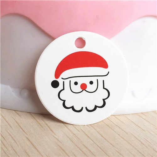 100 piezas etiqueta Navidad gracias con el corazón rojo etiquetas de regalo Kraft boda fiesta etiquetas colgantes de papel de etiqueta de precio de colgar tarjetas de etiquetas