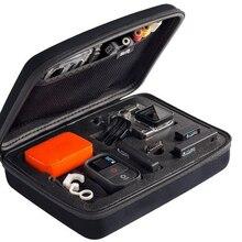 Caixa de armazenamento para go pro hero 5 4 3 +, portátil, saco protetor à água, resistente à água sjcam sj4000 sj5000 sj6000 2 1