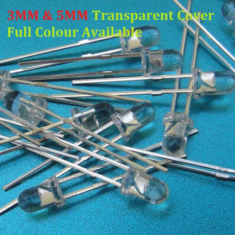 Diodes Back To Search Resultselectronic Components & Supplies 100pcs Transparent Cover Led 5mm 3mm Red Yellow Green Blue Warm White Purple Light Emitting Diode High Bright F3 F5 Quality Bead