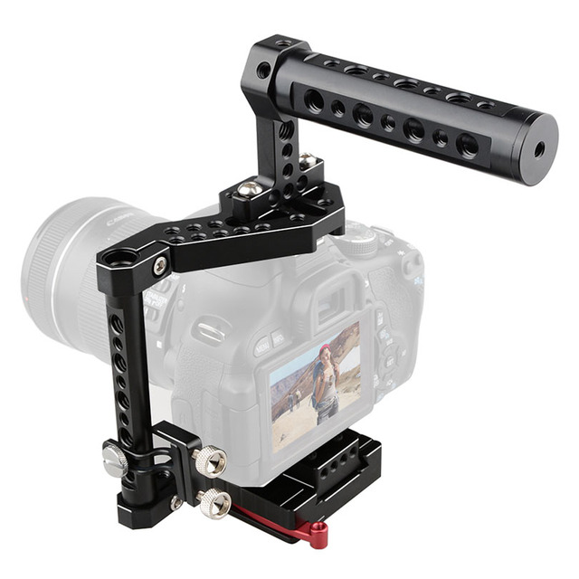 CAMVATE DSLR Camera Cage + Top Handle For A7II/A7SII,canon EOS ...