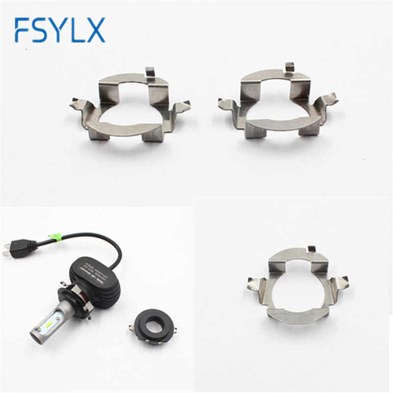 FSYLX 20x H7 LED bulb adapter for Skoda Octavia A5 H7 LED headlight bulb holder H7 Metal clip retainer forBenz ML350 Touareg