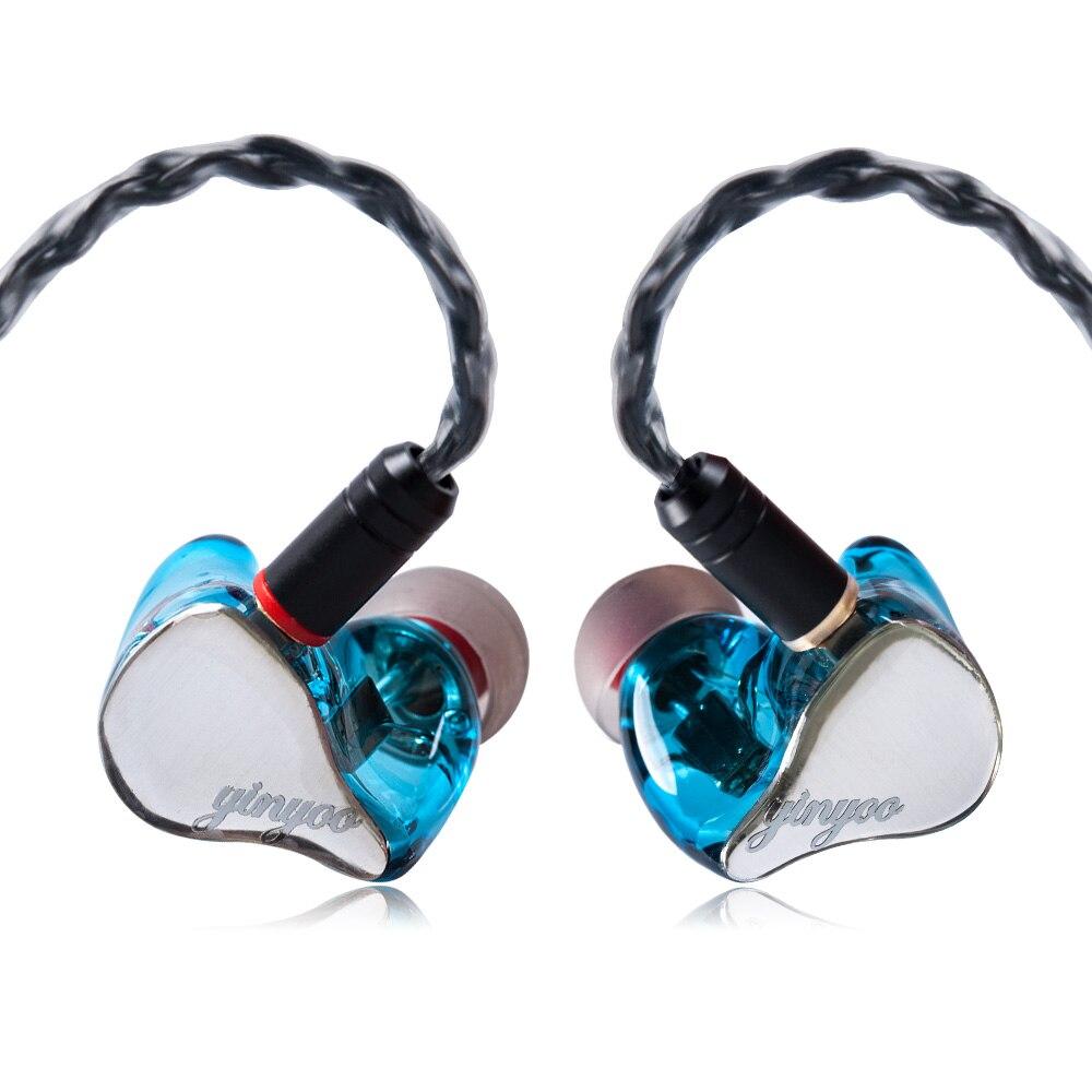 Yinyoo HX3 2BA 1DD Hybrid 3 Unit In Ear Earphone HIFI DJ Monitor Earphone Earbud Headset