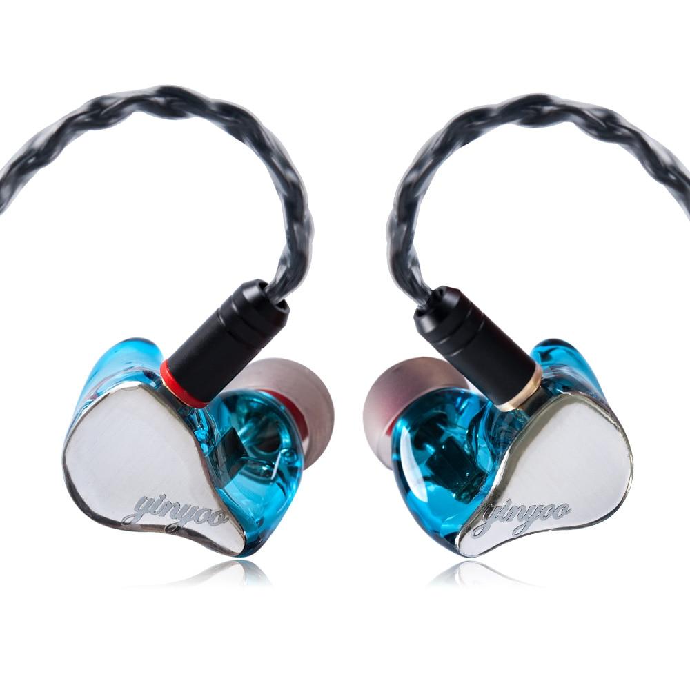 Yinyoo HX3 2BA+1DD Hybrid 3 Unit In Ear Earphone HIFI DJ Monitor Earphone Earbud Headset With MMCX Detachable Cable-in Earphones from Consumer Electronics    1