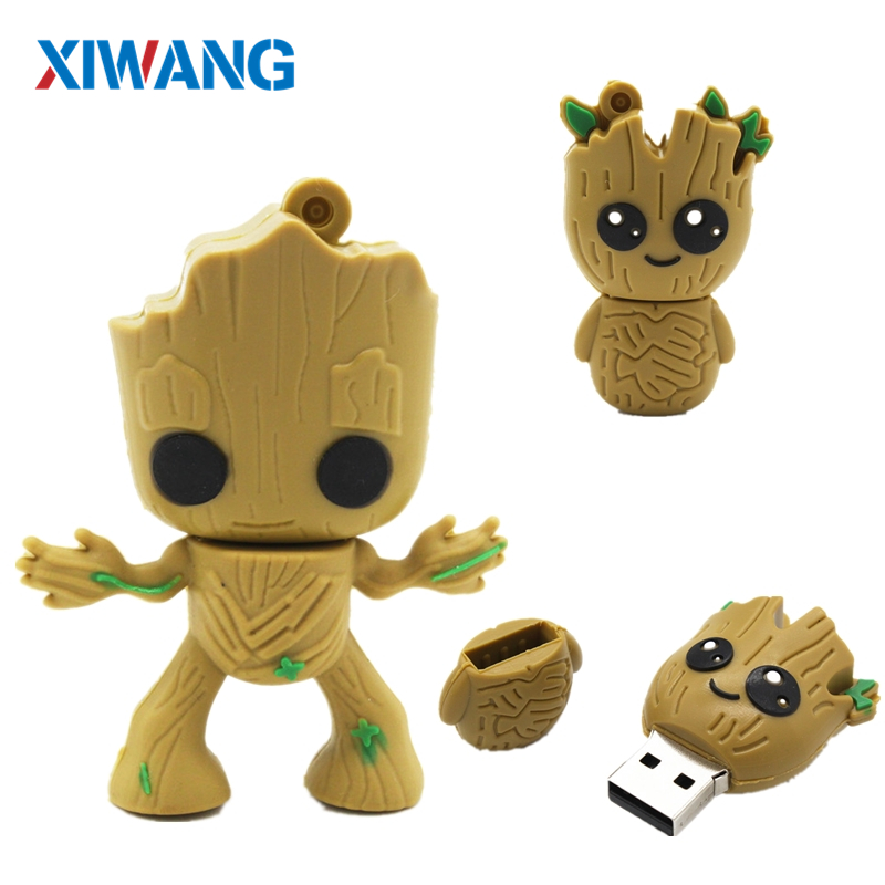 Cartoon Super Hero Tree Man Pen Drive Usb Flash Drive 4GB 8GB 16GB 32GB 64GB Pendrive Usb 2.0 Flash Memory Stick Creative Gift
