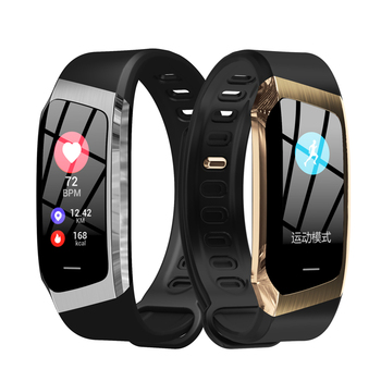 Pulsera inteligente E18 Monitor de ritmo cardíaco rastreador de la vida impermeable IP67 reloj deportivo para Android e IOS reloj inteligente para hombre