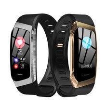 Bracelete inteligente e18 para homens, smartwatch com monitoramento de frequência cardíaca, fitness, à prova d' água ip67, relógio de pulso esportivo para android e ios