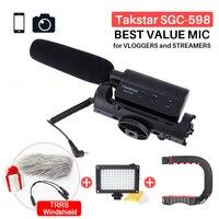 Takstar SGC 598 Photography Interview Shotgun MIC Microphone for Nikon Canon DSLR Camera DV Camcorder for Vloggers/Videomaker