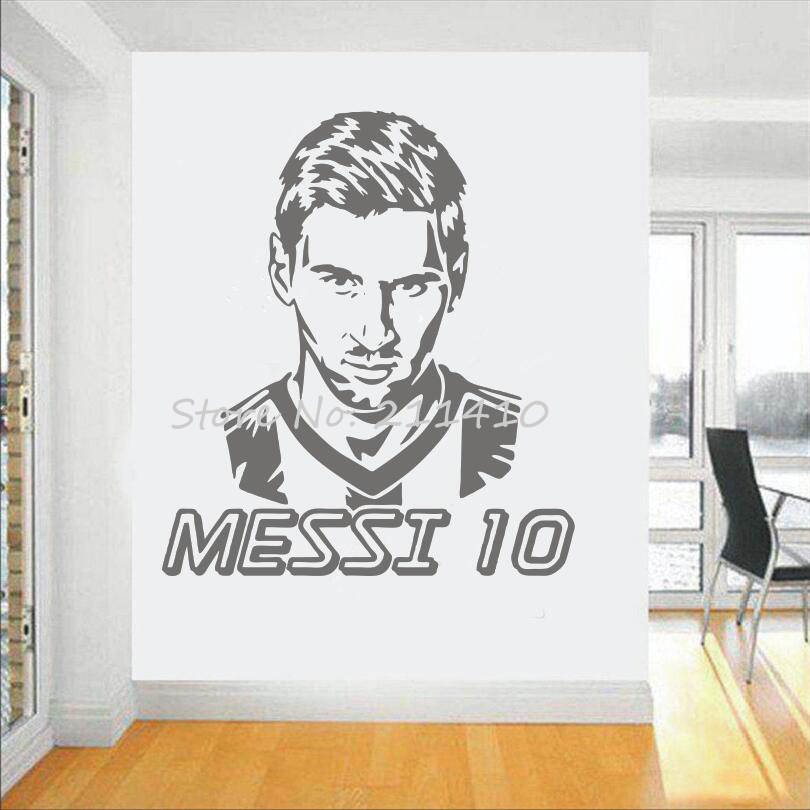 Futbol takımı logosu Duvar Sticker Sanat Messi vinil duvar sticker - Ev Dekoru - Fotoğraf 4