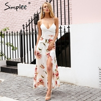 Simplee Sexy Strap Hollow Out Lace Women Dress Fashion Lacer Backless Midi Dress Women Casual Side