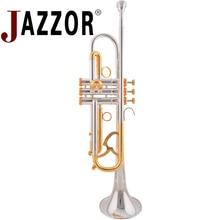 JAZZOR JZTR-800 профессиональные трубы B плоские золотые и серебряные латунные духовые инструменты с Чехол мундштук