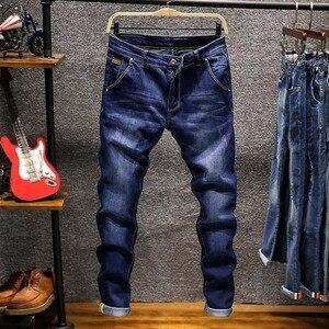 Image 4 - AIRGRACIAS Brand 2019 Fashion Jeans Men Business Casual Stretch Slim Jeans 5 Color Classic Vintage Trousers Denim Pants Jean Men
