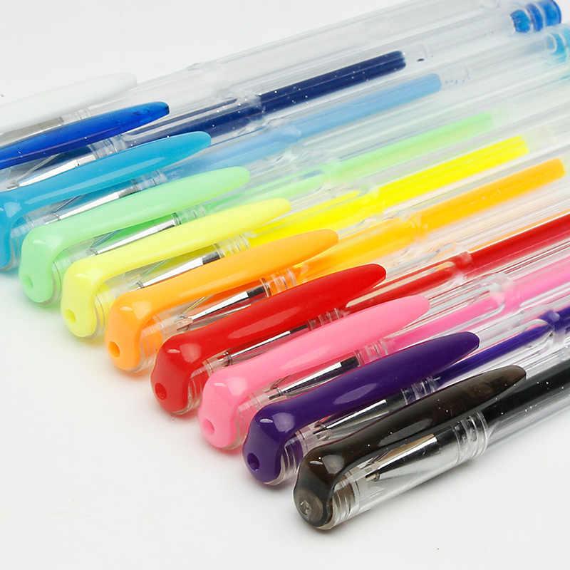 100 สีชุดปากกาเจลเติมหมึกเจลปากกา METALLIC Pastel Neon Glitter วาดสีปากกา Art เครื่องเขียน