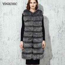 Nueva Mujer invierno Faux Fur abrigo sin mangas mujer chaleco Casual abrigos de piel 2018 calienta gruesa Artificial chaleco 9 líneas de abrigo Mujer