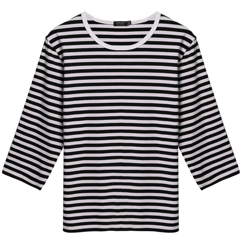 COOFANDY Mens autumn tee tops 3 4 Sleeve Striped T shirt Basic Tee Stretch  Casual Leisure shirt Tops for men-in T-Shirts from Men s Clothing on ... d62b6f44c