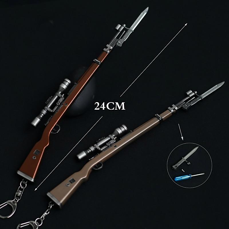 Caritativo Pubg Cs Ir Arma Modelo Ak47 Pistola Modelo 98 K Rifle De Francotirador Clave Para Hombres Regalos Souvenirs 24 Cm Productos De Alta Calidad