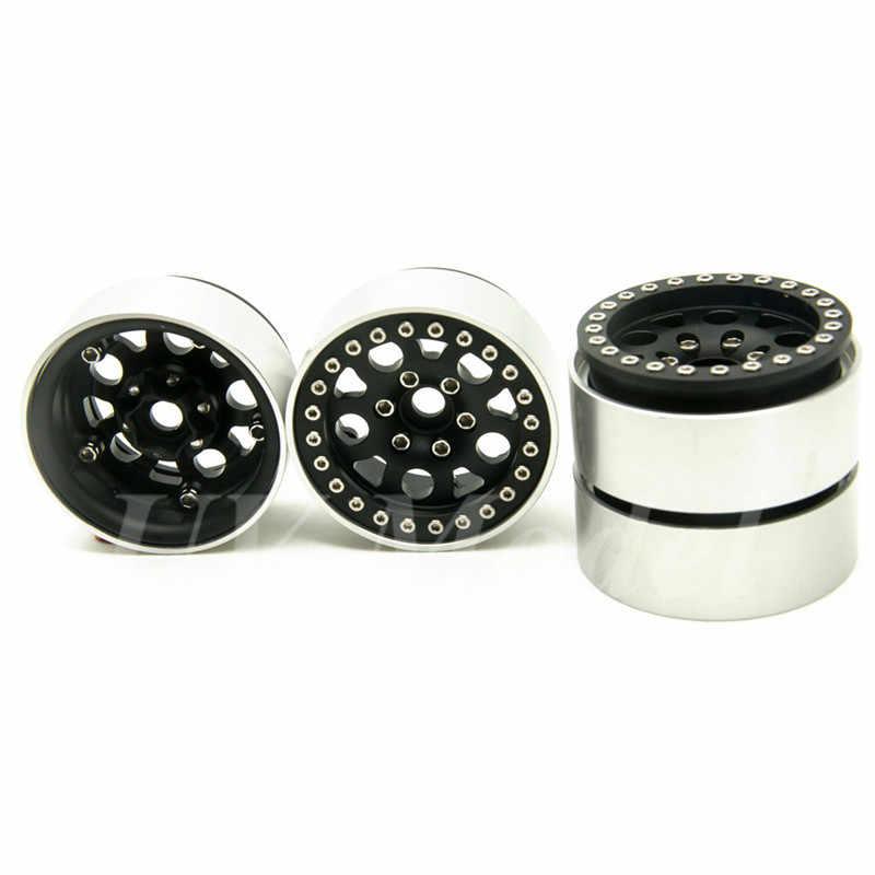 4 stks/partij RC Aluminium 1.9 Beadlock Velgen Voor Axiale SCX10 CC01 1.9 inch Wielen 1/10 RC Auto Vrachtwagen rock Crawler