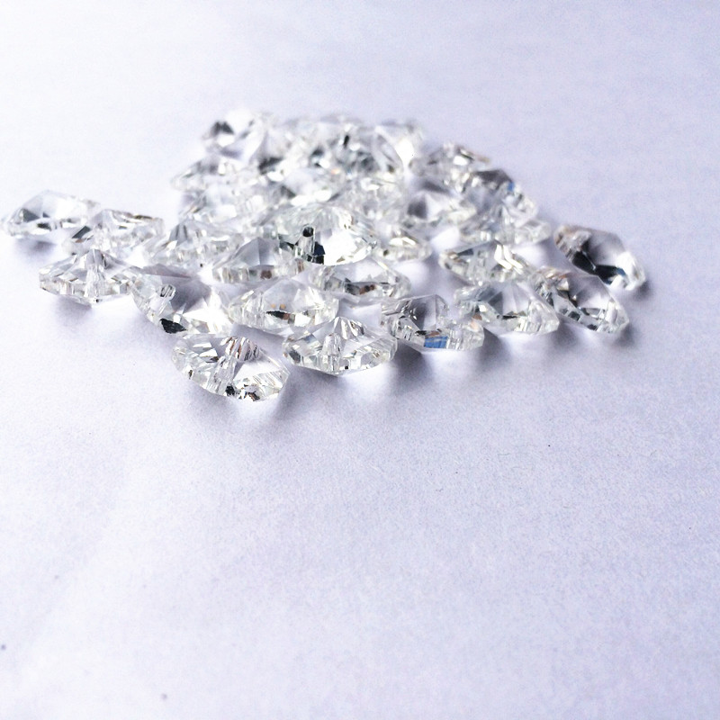 10mm Clear 600pcs/lot Crystal octagon bead with one hole, Diy Wedding & home decoration, Crystal Accessories chandelier parts image