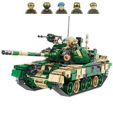 цена на hot military WW2 army Heavy main battle tank war MOC Building Blocks model mini soldier figures bricks toys for children gift