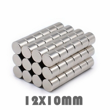 10/30/50pcs 12x10mm Neodymium Magnet Permanent N35 NdFeB Super Strong Powerful Small Round Magnetic Magnets Disc 12mm x 10mm 48pc 2 5kg pulling ndfeb magnet dia 10mm 12mm and 16mm magnetic pots with thread neodymium permanent strong holding magnet
