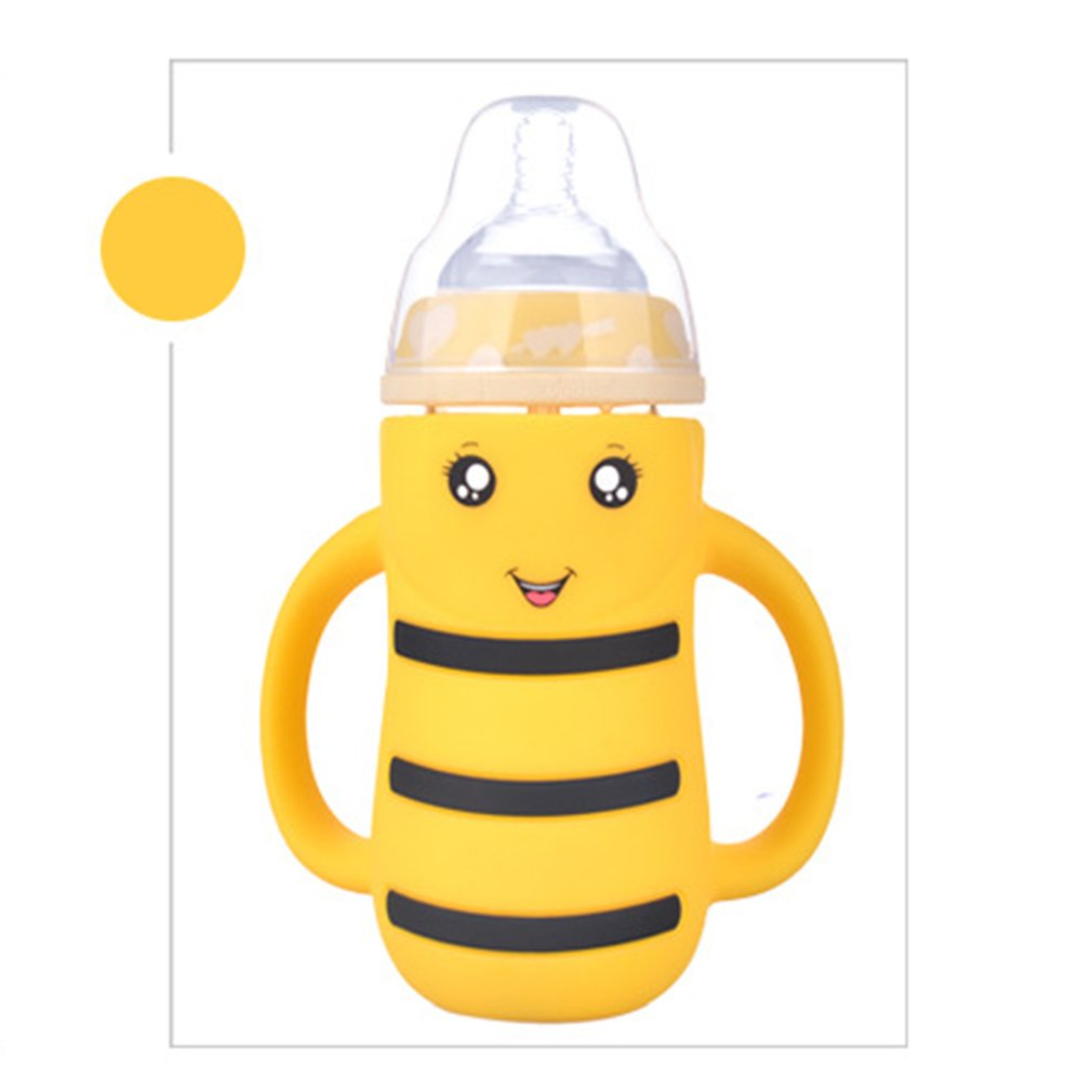 240ML Baby Drinking Water Cups Bottle With Straw Portable Feeding Bottle Water Feeding Cup With The Handle For Baby New Hot Sale