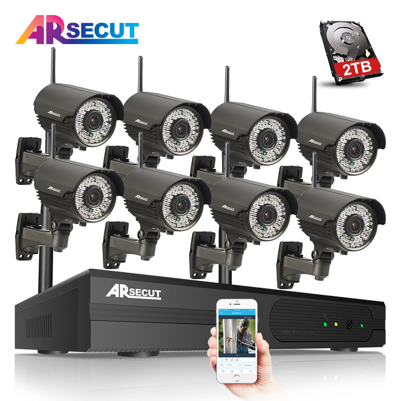 Plug And Play Wireless CCTV System 8CH H.264 NVR 2TB HDD 960P HD Varifocal 2.8mm-12mm Lens Outdoor IR Security IP Camera System narinder kumar sharma h p singh and j s samra poplar and wheat agroforestry system