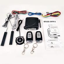 цены на 9Pcs/Set Car Keyless Entry Engine Start Alarm System Push Button Remote Starter Central Kit Auto Door Lock car alarm system  в интернет-магазинах