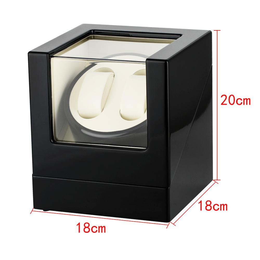 Watch Winder Automatic Watch Box Black Mixed Materials Double Automatic Watch Winders Luxury Clock Winders caja reloj automatico in Watch Boxes from Watches