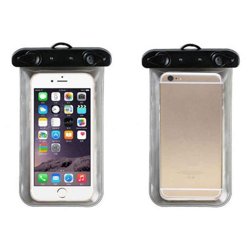 Neue Schwimmen Wasserdichte Unterwasser Tasche Tasche Pack Trocken Fall Für iPhone Handy Hohe Qualität PVC Transparent Telefon Tasche