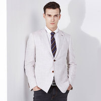 brand men clothing 2016spring summer 100%Linen men blazers suits coat single breasted business casual flim fit blazer plus size