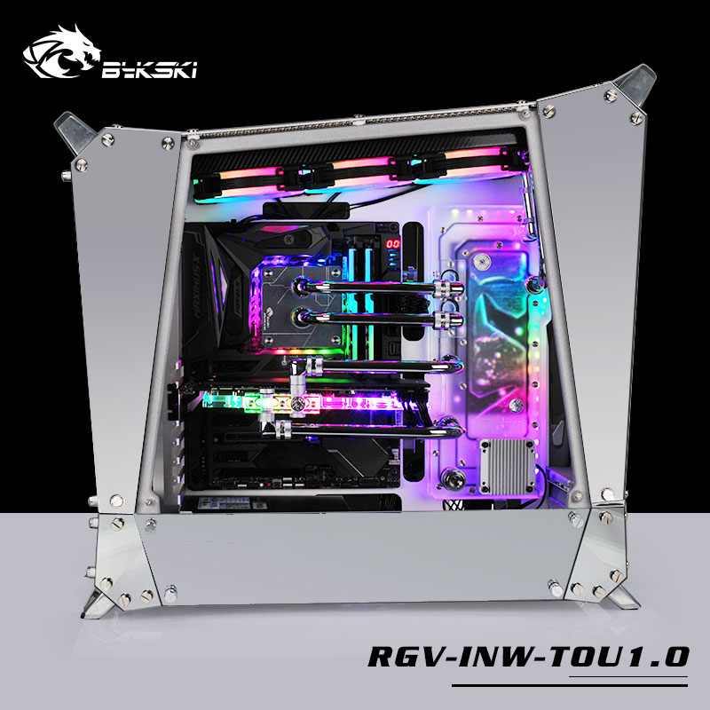 Bykski Acrylic Board Water Channel Solution Kit Use For In Win Tou1.0 Case / Kit For Cpu And Gpu Block / Instead Reservoir