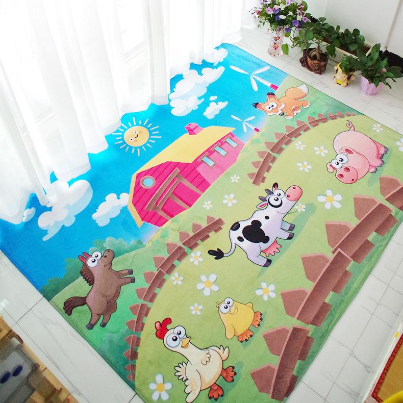 Schne Tiere Cartoon Fussmatte Grsse 6040 Cm Verdickt Flanell Kche Teppiche Wohnzimmer Badematten Kinder