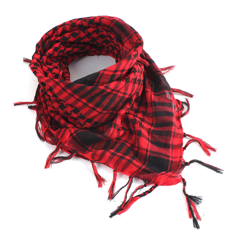 Mayitr 100x100cm Outdoor Hiking Scarves Arab Tactical Desert Scarf Army Shemagh With Tassel For Men Women