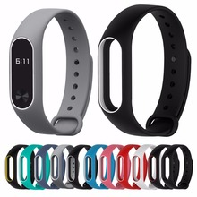 Replace Strap for Xiaomi Mi font b Band b font 2 MiBand 2 Silicone Wristbands for