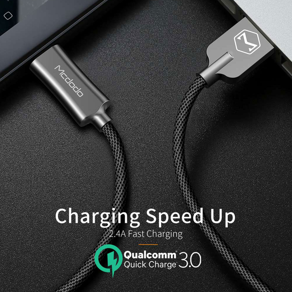 Mcdodo USB Type C Cable for Samsung S9 S8 Fast Charging Type C Mobile Phone Charger Wire USB C Cable for Xiaomi mi9 Redmi note 7 in Mobile Phone Cables from Cellphones Telecommunications