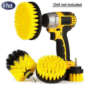 4Pcs Drill Brush Kit - Drill BrushPower Scrubber for Cleaning Bathroom Bathtub Cleaning Brush Scrub Drill Cleaning Kit D30