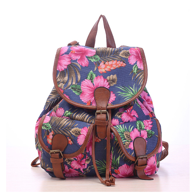 Aliexpress.com : Buy PU Leather Canvas Satchel Mochila Fashion ...