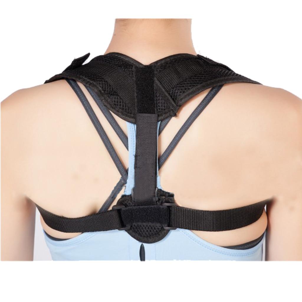Men Women Adjustable Figure 8 Shaped Upper Back Shoulder Posture Corrector Brace Clavicle Support Corrective Belt Black S M L