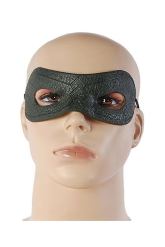 Green Arrow Oliver Queen Mask Blinder Halloween Cosplay Props Eye Patch Artificial Leather