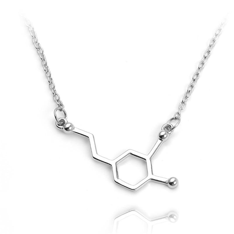 Anhänger-halsketten Regalrock Mdma 4-methylenedioxymethamphetamine Schwarz Serotonin Mda Molekül Anhänger Halskette