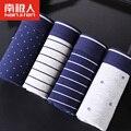 2017 NANJIREN New Business Style Mens Underwear Boxers Soft Cotton U Convex Sexy Boxers Men Cueca Large Size L~XXXL 4pcs/lot