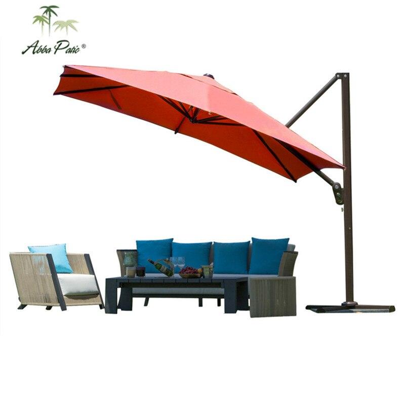 abba patio 10 ft square easy open offset outdoor umbrella square Base for 10 Ft Umbrella