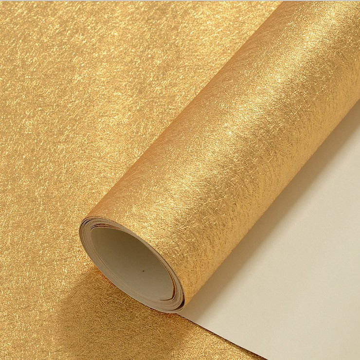 junran pure Gold foil wallpapers PVC,Modern wall paper for TV background,Vinyl PVC wallpapers for KTV Bar Living Room,Decor
