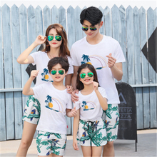 Family Set Stars T shirts+Shorts 2pcs Clothes Mother Daughter Father Son Clothing Sets Matching Outfits Look