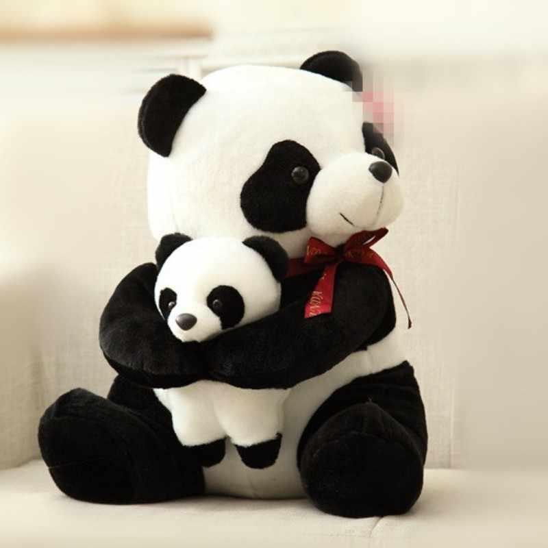 25 cm 30 cm New Style Pai Panda De Pelúcia Crianças Brinquedo Macio Pequeno Animal De Pelúcia Brinquedos de Pelúcia Boneca Urso Dos Desenhos Animados