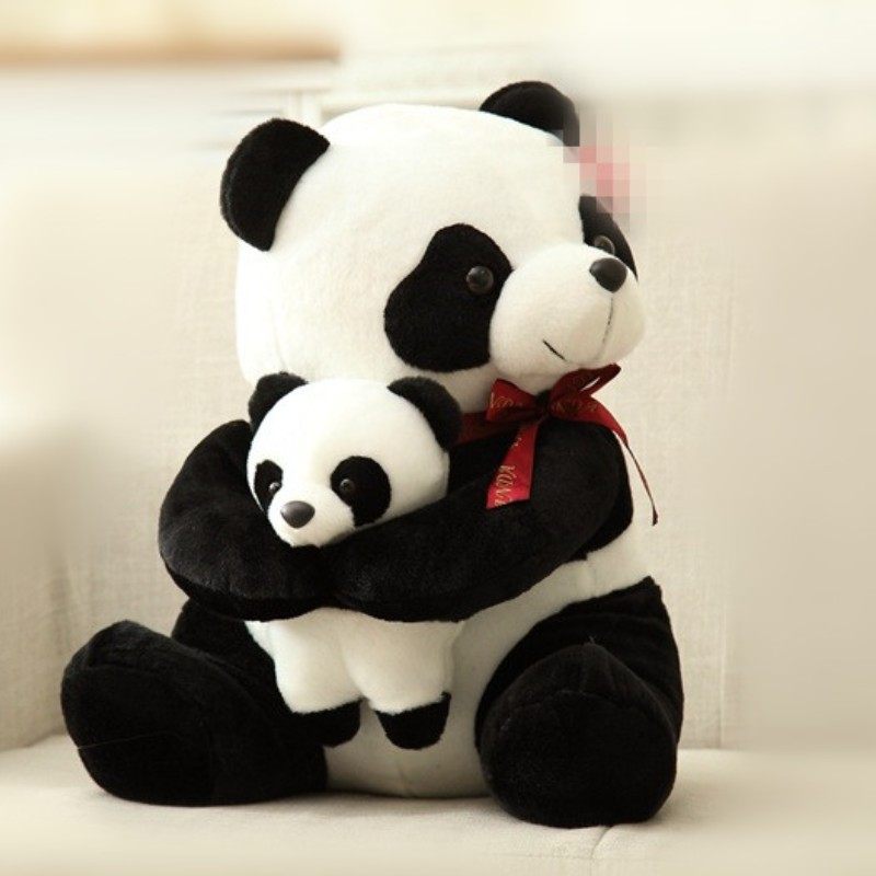 25cm 30cm New Style Father Panda Plush Toy Kids Soft Small Stuffed Animal Plush Doll Cartoon Bear Toys
