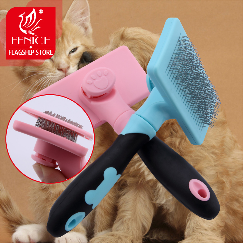 Նոր դիզայն Pet Dog Cat ասեղ Comb Self Quick Clean Dog Hair Removal Shedding Hair Tool Brush Pet Supplies