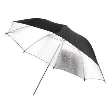 EDT-102 cm/40inch 스튜디오 사진 스트로브 플래시 라이트 리플렉터 블랙 실버 소프트 우산