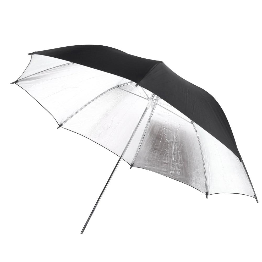 EDT-102 cm/40inch studio Photo Strobe Flash light reflector Black Silver soft umbrella