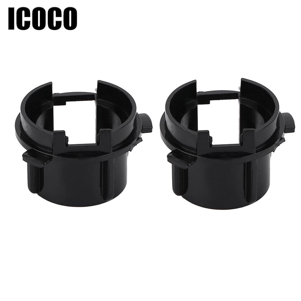 ICOCO 2pcs H7 LED Adapter Headlight Bulbs H7 Xenon Base Holder For Kia Sorento Hyundai Veloster Coupe Sonata 9 Grand SantaFe  пинотекс base грунт 2 7 л