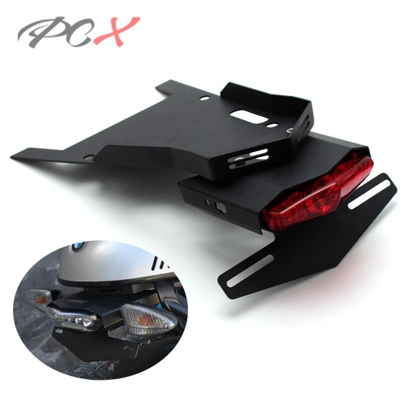 Rear LED Lamp Fender Bracket Mudguard License Plate R 9t 14-15 For BMW R NINE T
